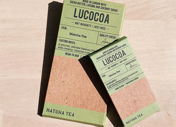 Lucocoa Matcha White Chocolate Bar (40% Cocoa) - 50g