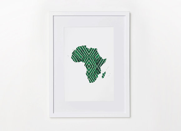 Alejo Mi Map of Africa Wall Art Photo - A4