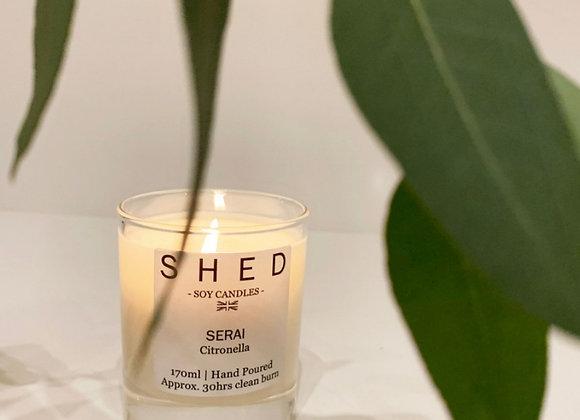 SHED Citronella (SERAI) Outdoor Candle - 170ml