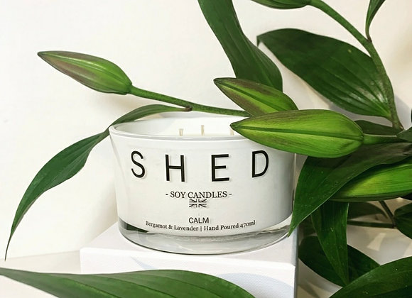 SHED Triple Wick Luxury Soy Candle - 470ml