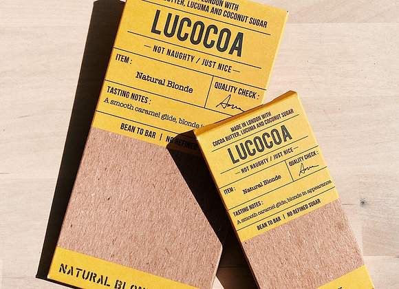 Lucocoa Natural Blonde (White Chocolate, 40% Cocoa) Chocolate Bar - 50g