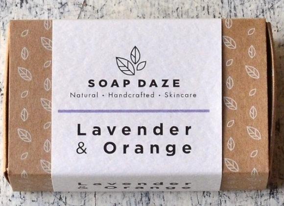 Soap Daze Lavender & Orange Handmade Natural Vegan Soap Bar