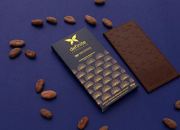 Definite Chocolate Bar - 70% Dark Chocolate (60g)