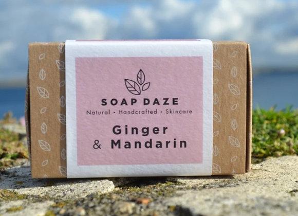 Soap Daze Ginger & Mandarin Handmade Natural Vegan Soap Bar