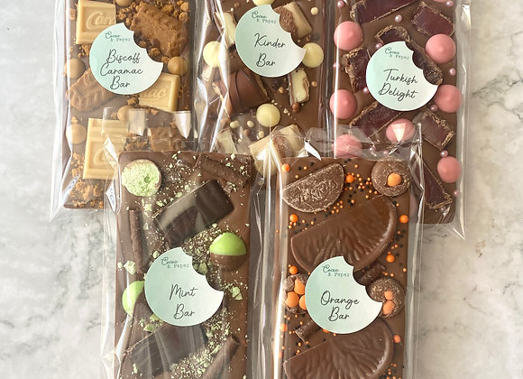 Cocoa & Paper Belgian Chocolate Bars (Approx 130-150g)