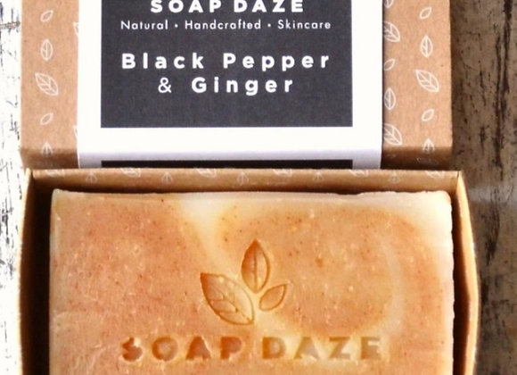 Soap Daze Black Pepper & Ginger Handmade Natural Vegan Soap Bar