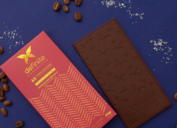 Definite Chocolate Bar - Finca Elvesia (65%) - Coffee & Sea Salt (60g)