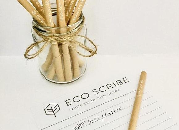 Eco Friendly Black Ink Paper Pen