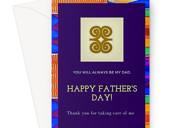 Essence of Asabea 'Adinkra' Father's Day Card