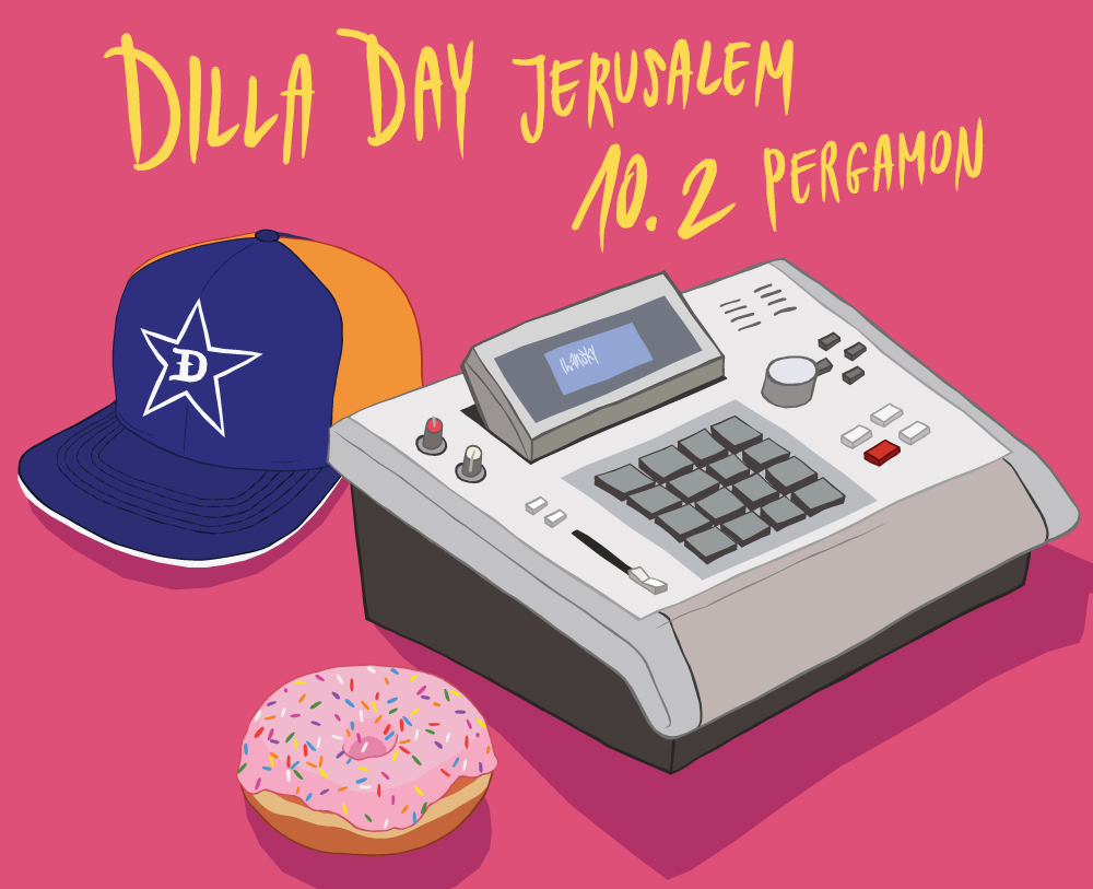 Visuals for Dilla Day Jerusalem 2018