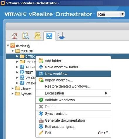 Vrealize Automation Workflow