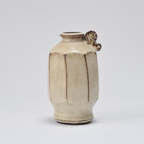 White Faceted bottle