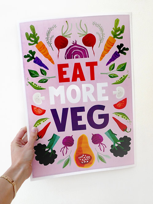 Eat More Veg print
