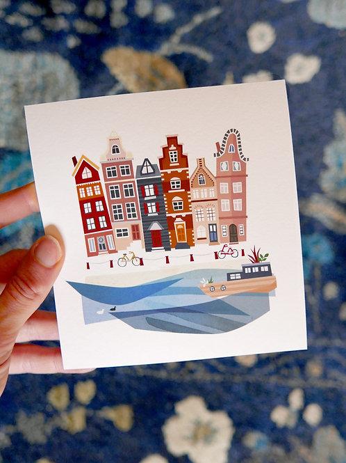 Amsterdam mini print