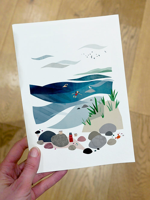 Beach Swim print