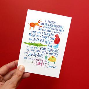 Roald Dahl quote illustration