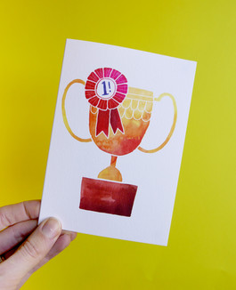 Trophy card design