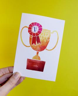 Trophy card design