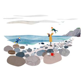 Burton Bradstock with buddies illustration