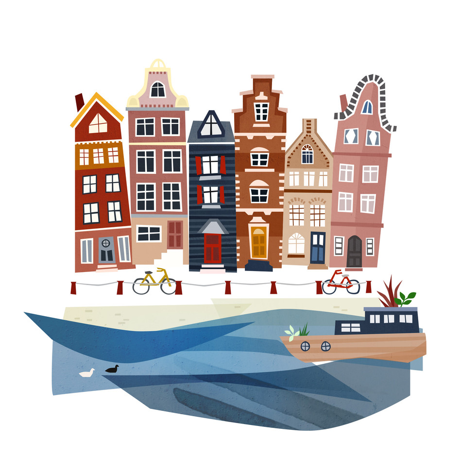 Amsterdam illustration
