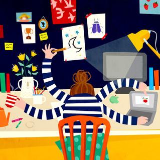 Work balance illustration