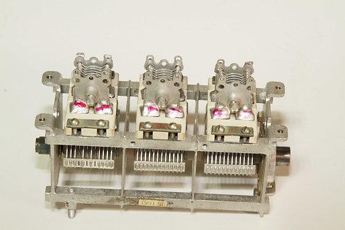 Кпе от радиостанции рсиу-3М, 3-х секционный, с подстроечными конденсаторами
