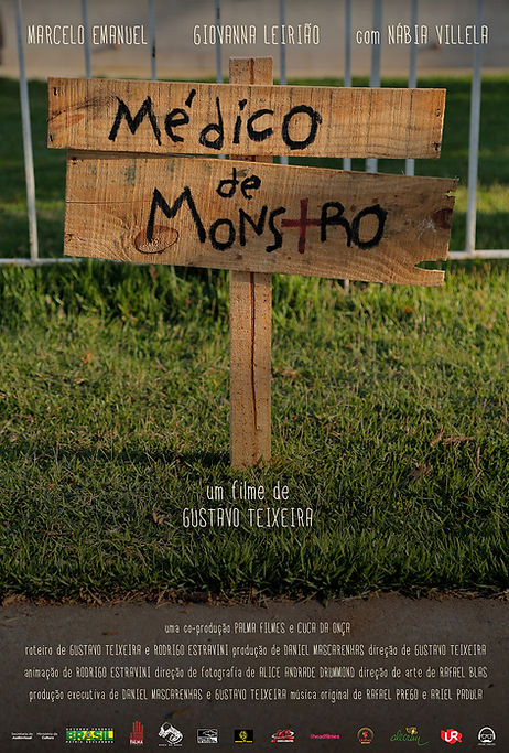 poster médico de monstro