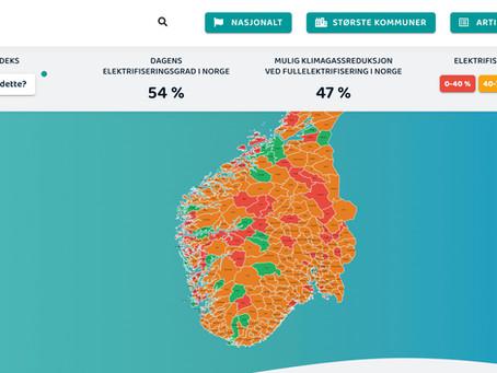 El-indeks viser mulighetene for elektrifisering i kommunene
