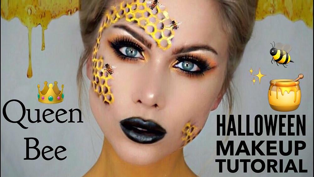 queen bee halloween makeup