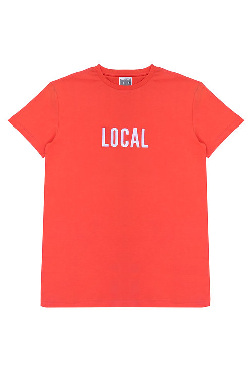 The Local Unisex Tee In New Red