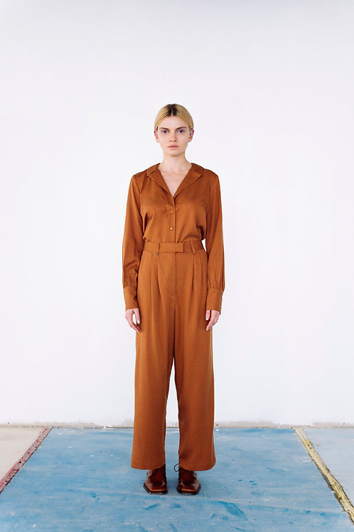 Formalist Tencel Trousers in rust