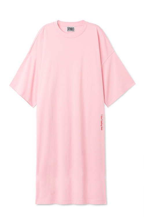 The Midi T Dress In Pink