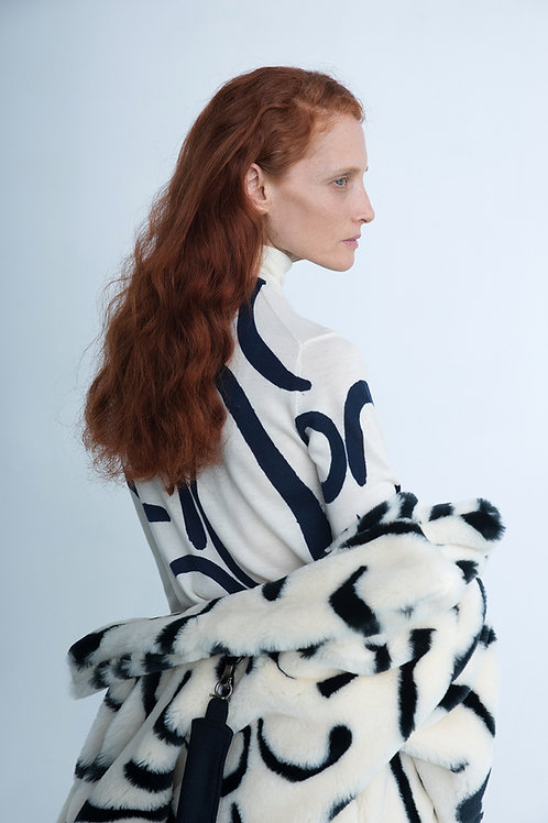 Printed Merino Knit