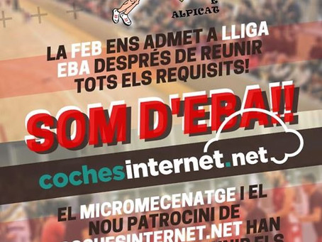 Cochesinternet.net Alpicat jugarà a la Lliga EBA