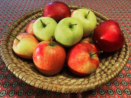 Prodej jablek v plném proudu