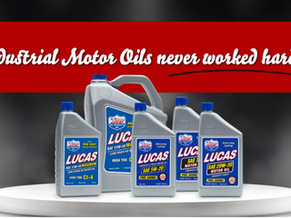 Industrial motor oils never worked harder