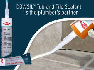DOWSIL Tub and Tile Sealant is the plumber's partner