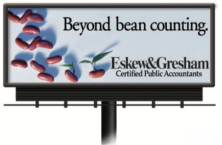 Experience fall colors in the great outdoors along with some great outdoor advertising!