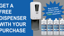 Buy 4 cases of 32oz hand sanitizer and get a FREE dispenser