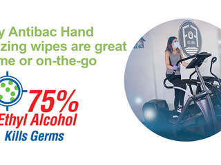 With 75% Ethyl Alcohol, Handy Antibac Hand Sanitizing Wipes are great at home or on-the-go