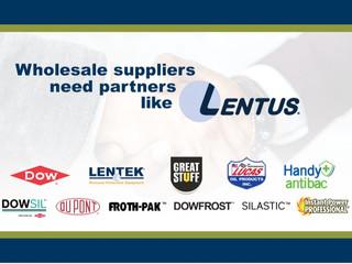 Wholesale suppliers need partners like Lentus.
