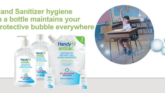 Handy Antibac™ Antiseptic Instant Gel Hand Sanitizers