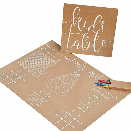 Kids Table Activity pack
