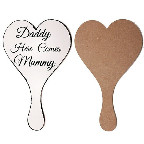 Daddy here comes Mummy paddle sign
