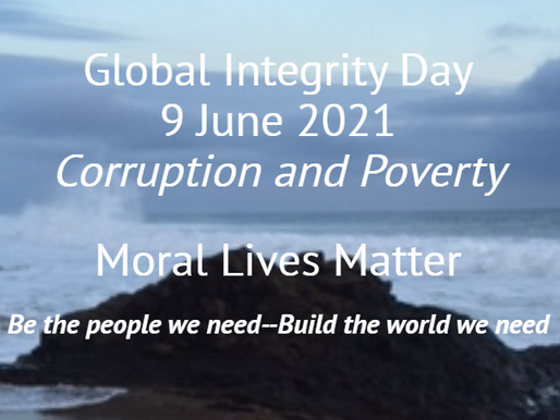 June 9 is GLOBAL INTEGRITY DAY!