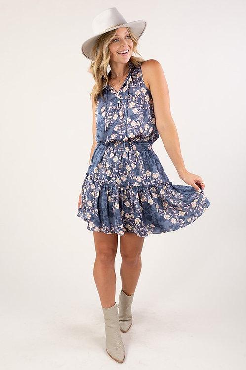Smocked Waist Floral Mini Dress