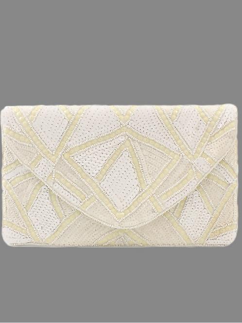 Ivory Art Deco Clutch