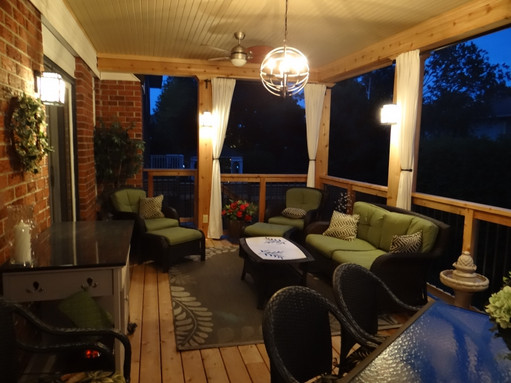 Dream deck at dusk!