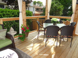 Outdoor Dining on the New Deck