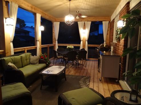 Deck at nighttime, alternative view
